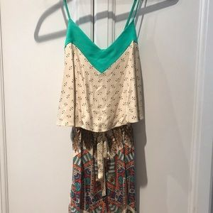 Anthropologie Elvenses brand shorts romper